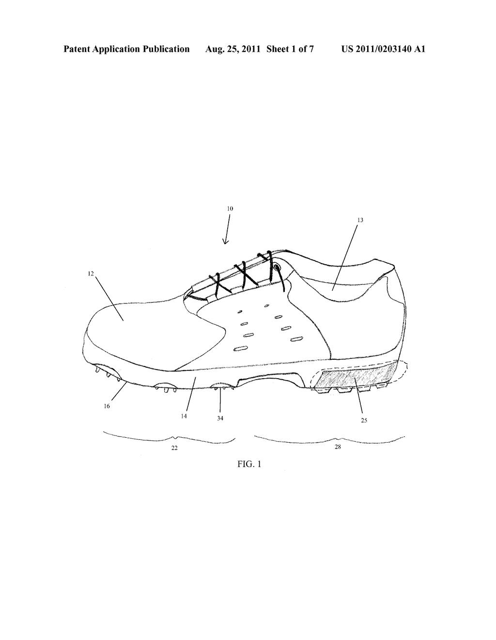 golf shoe diagram schematic and image 02 rh patentsencyclopedia com diagram of shoe rack diagram of shoe rack