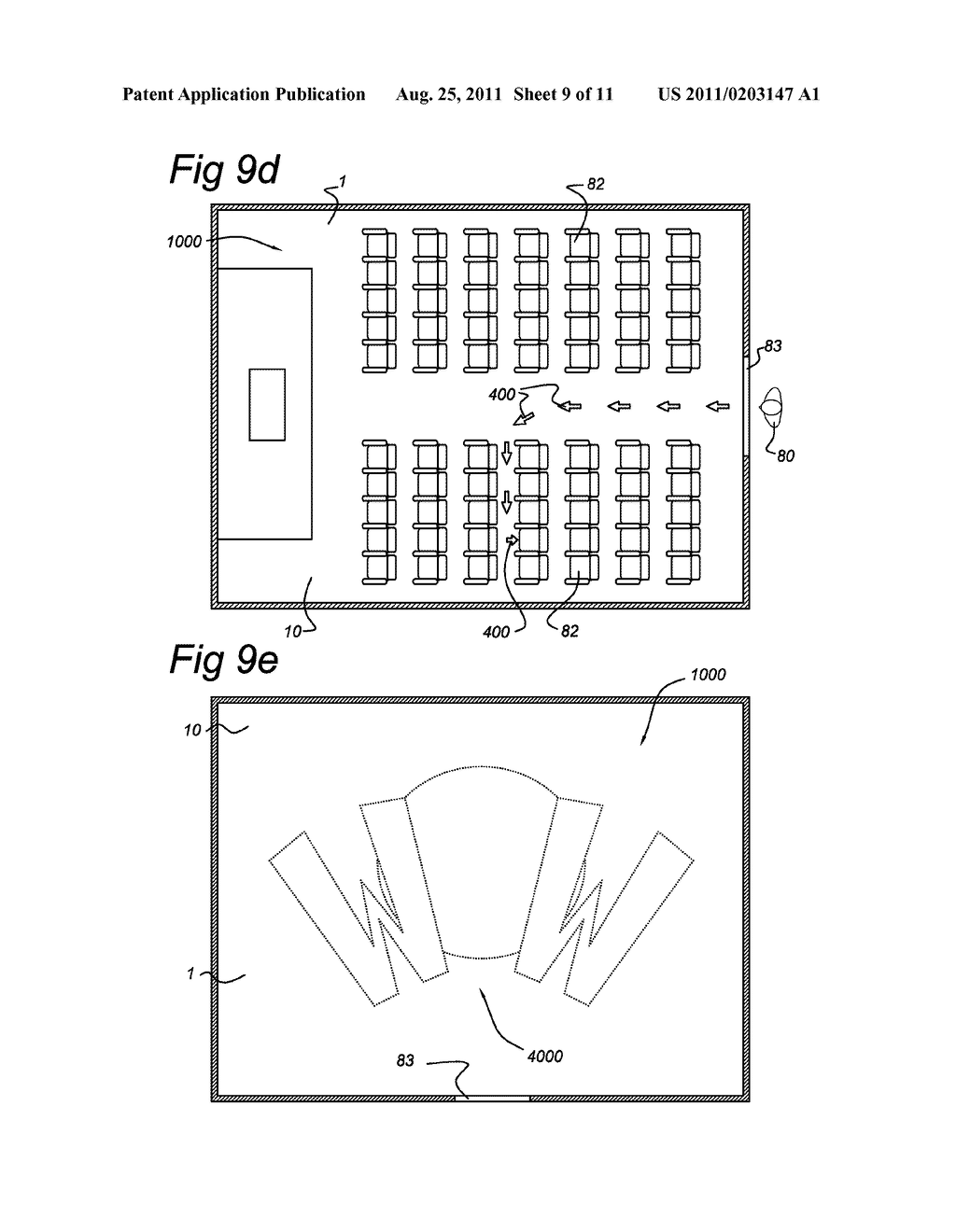 LIGHTING ARRANGEMENT COMPRISING A CARPET WITH BACK LIGHTING FOR PROVIDING     DYNAMIC LIGHT EFFECTS WITH THE CARPET - diagram, schematic, and image 10