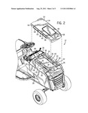 HOOD ASSEMBLY FOR A LAWN TRACTOR WITH REMOVABLE COWL diagram and image