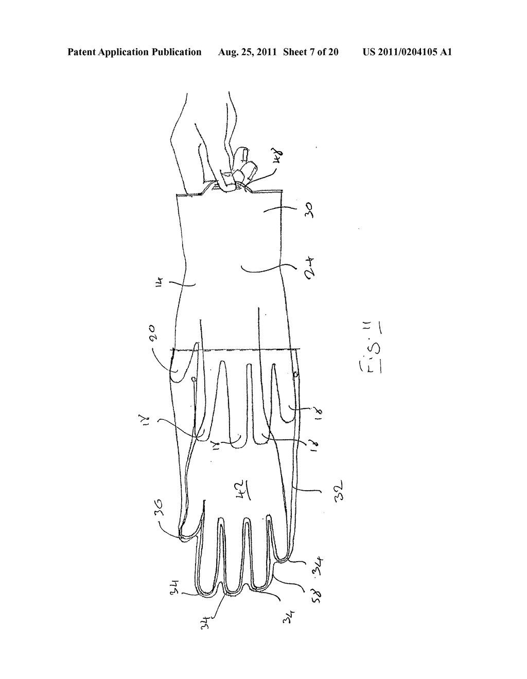 IMPROVEMENTS IN OR RELATING TO GLOVES - diagram, schematic, and image 08