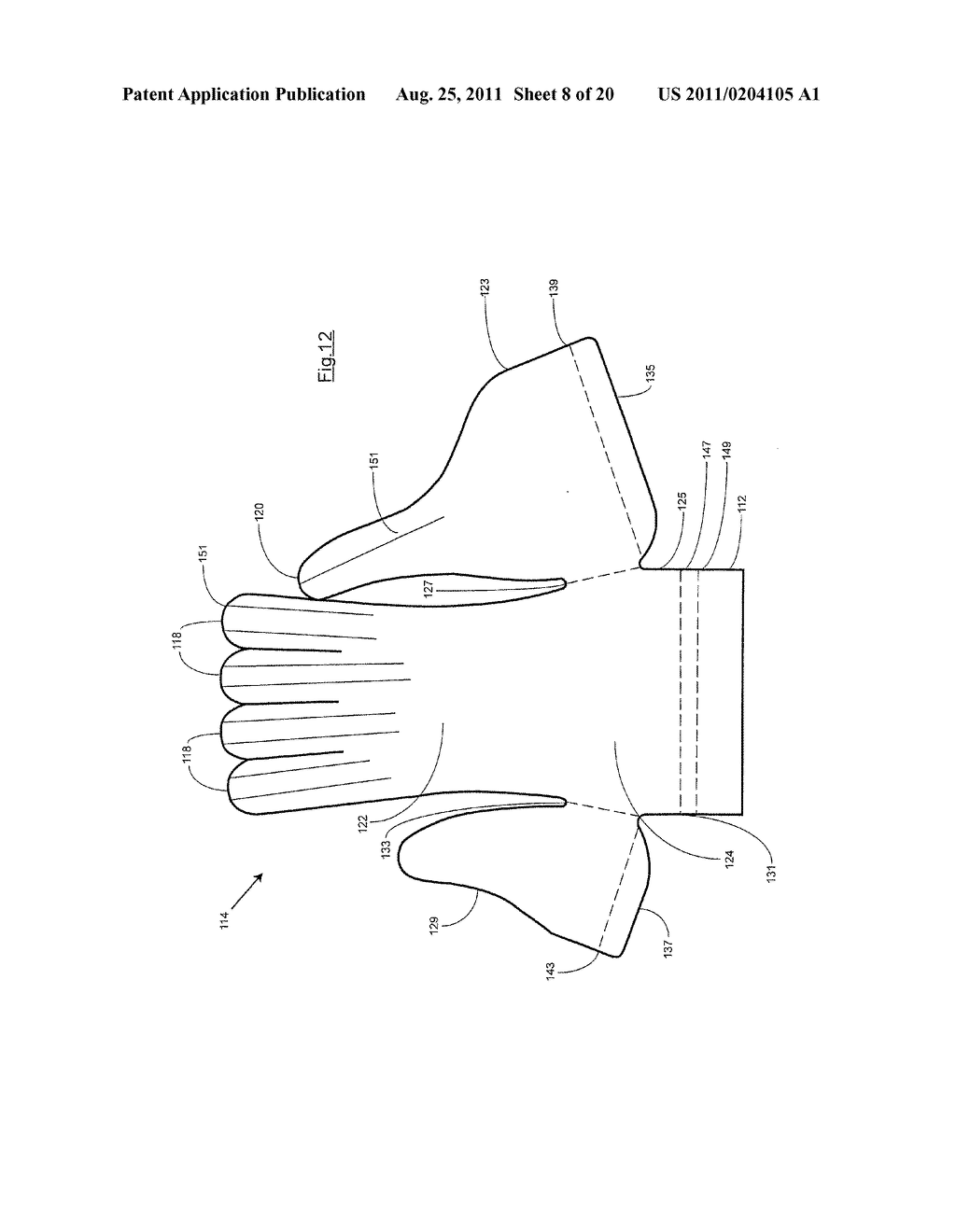 IMPROVEMENTS IN OR RELATING TO GLOVES - diagram, schematic, and image 09