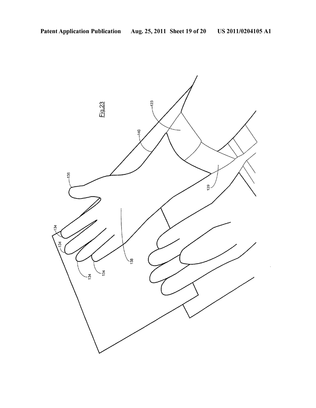 IMPROVEMENTS IN OR RELATING TO GLOVES - diagram, schematic, and image 20