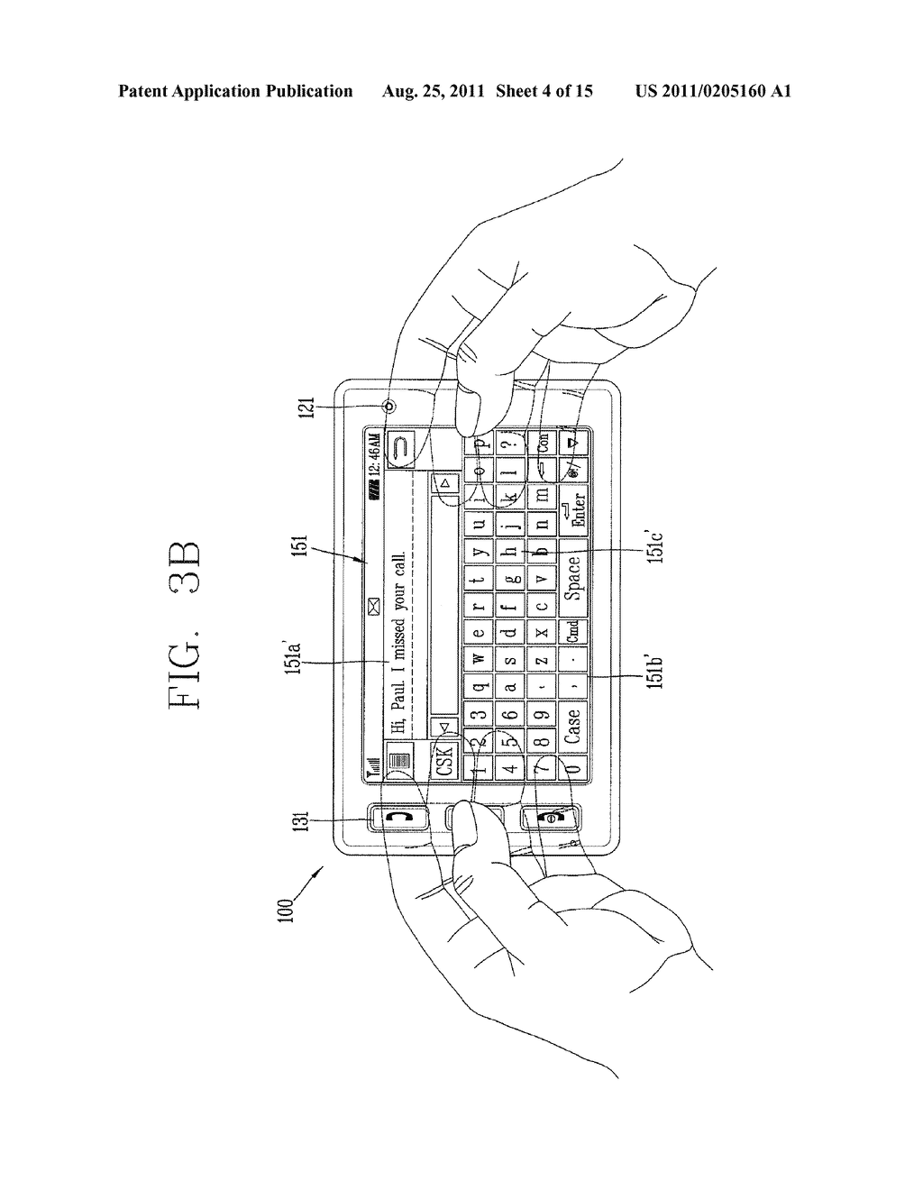 METHOD FOR INPUTTING A STRING OF CHARACTERS AND APPARATUS THEREOF - diagram, schematic, and image 05