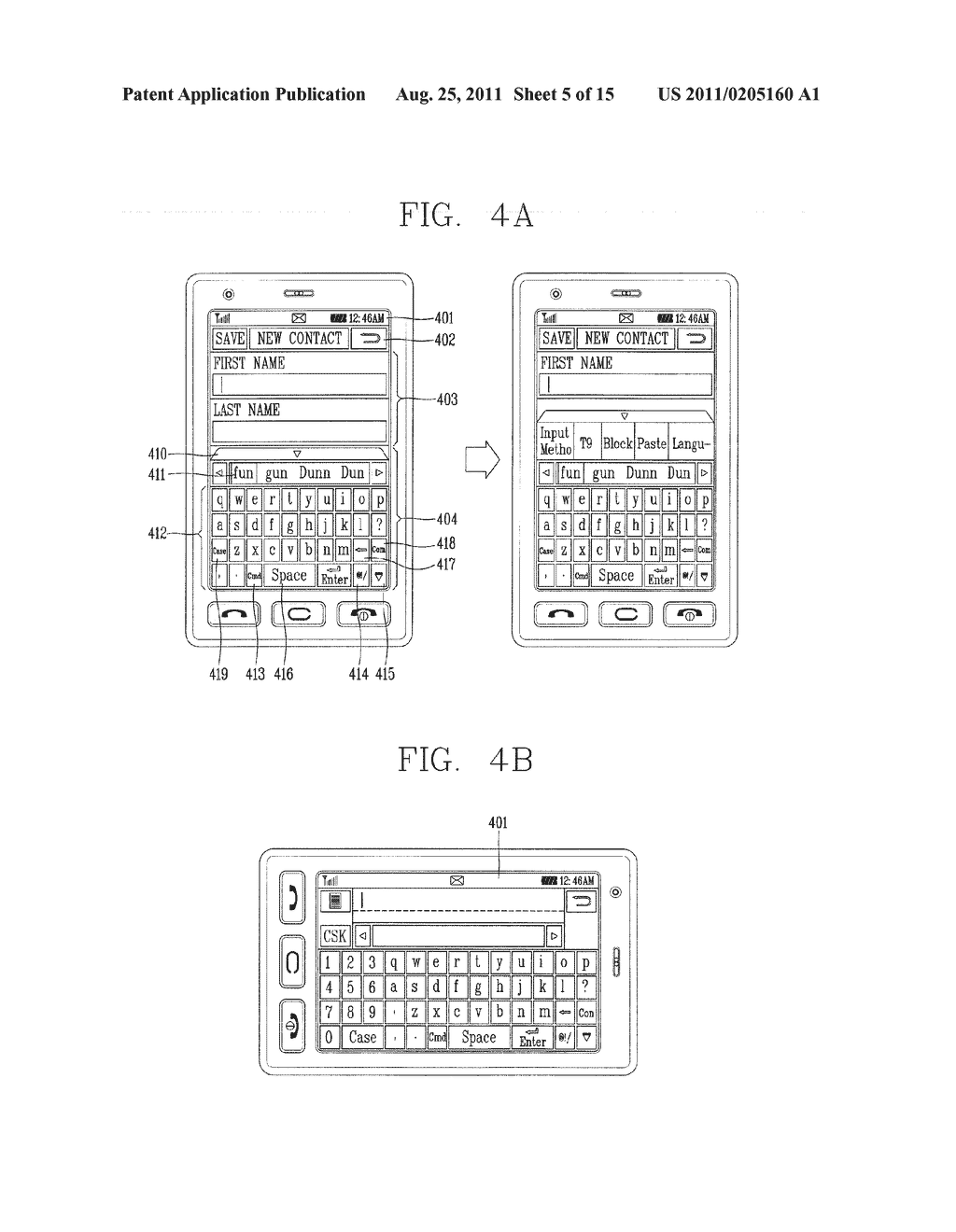 METHOD FOR INPUTTING A STRING OF CHARACTERS AND APPARATUS THEREOF - diagram, schematic, and image 06
