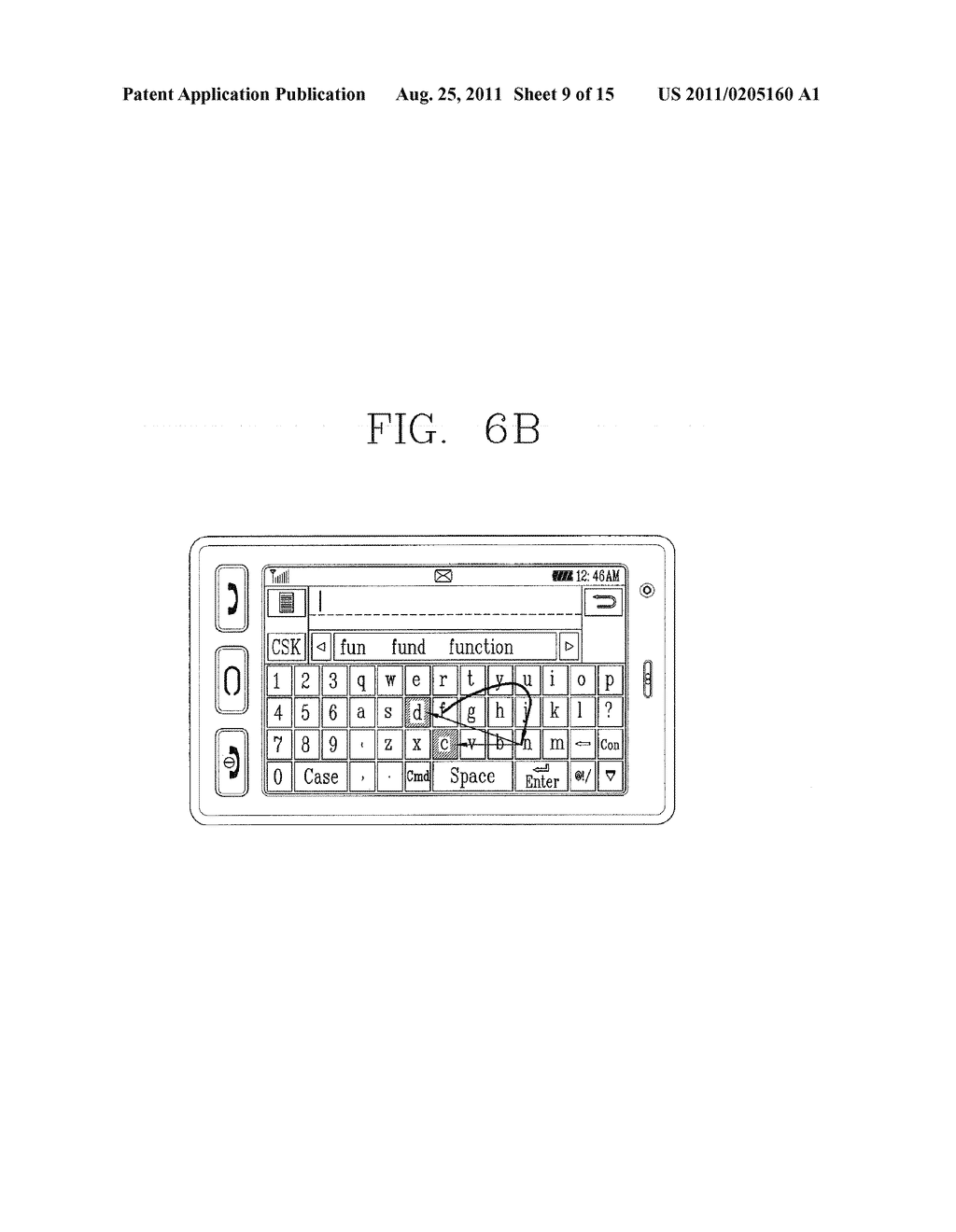 METHOD FOR INPUTTING A STRING OF CHARACTERS AND APPARATUS THEREOF - diagram, schematic, and image 10