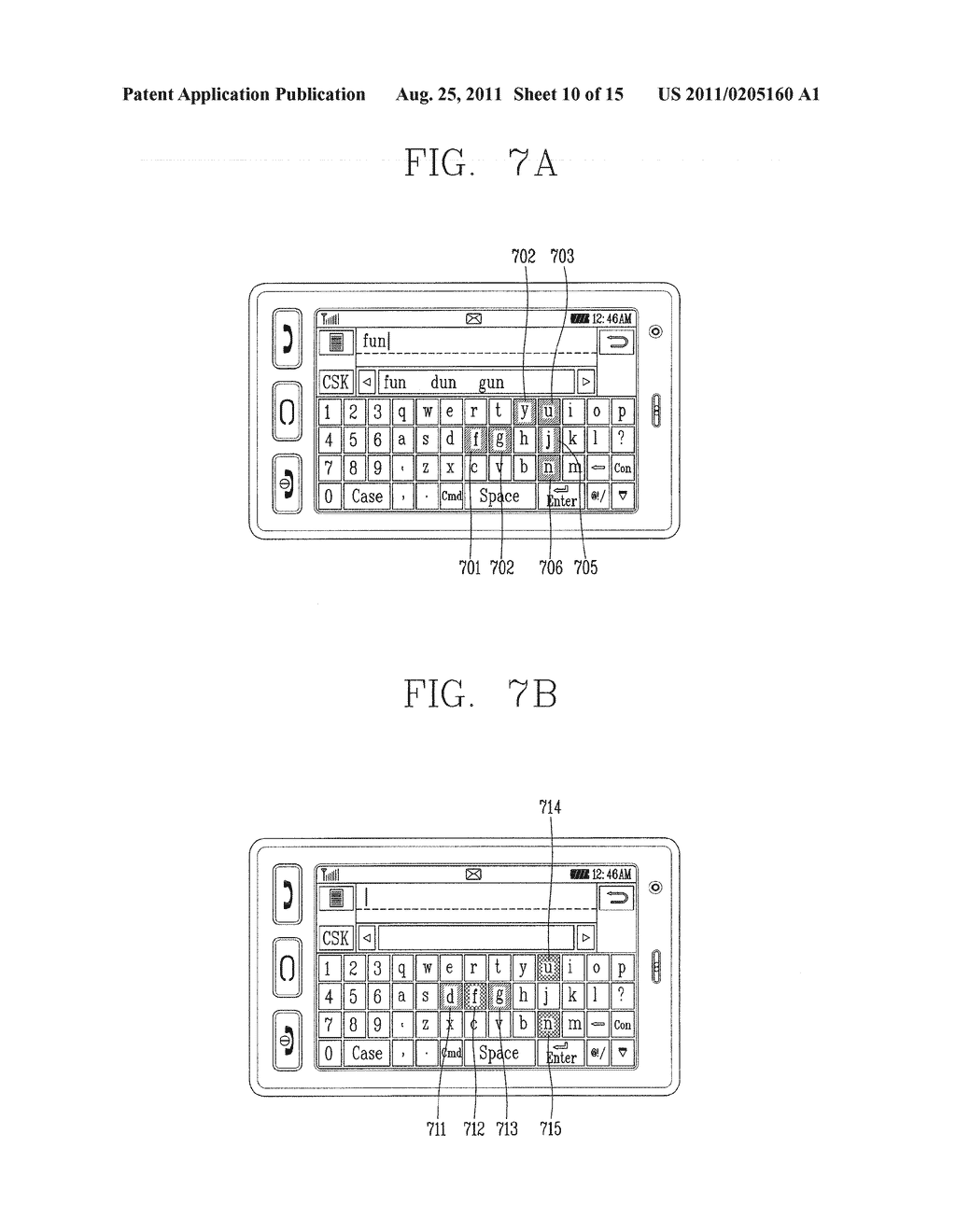 METHOD FOR INPUTTING A STRING OF CHARACTERS AND APPARATUS THEREOF - diagram, schematic, and image 11