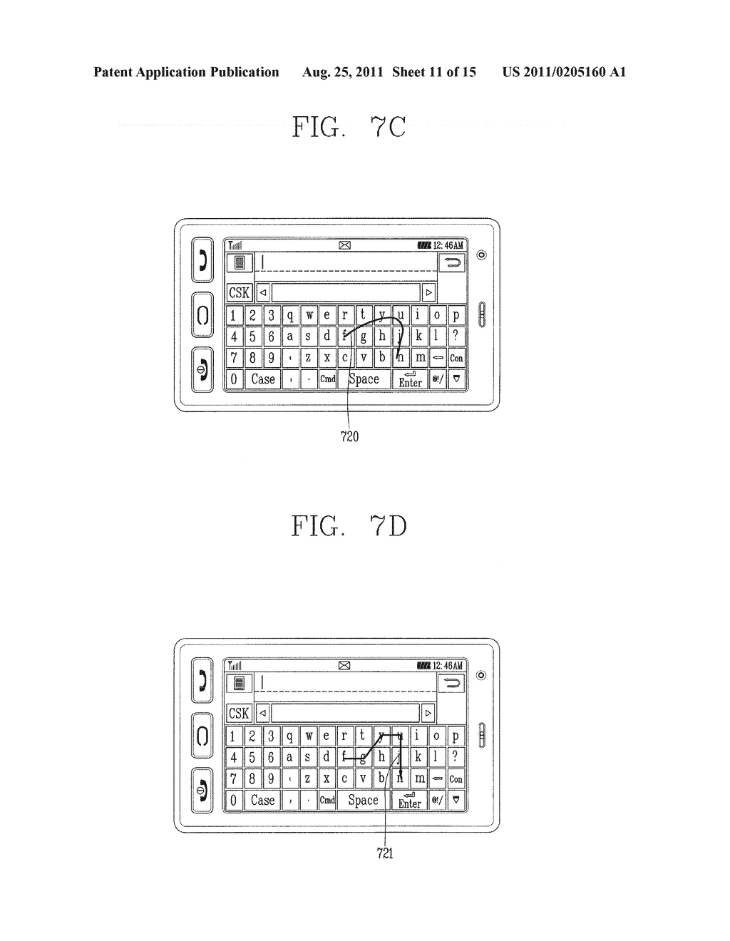 METHOD FOR INPUTTING A STRING OF CHARACTERS AND APPARATUS THEREOF - diagram, schematic, and image 12