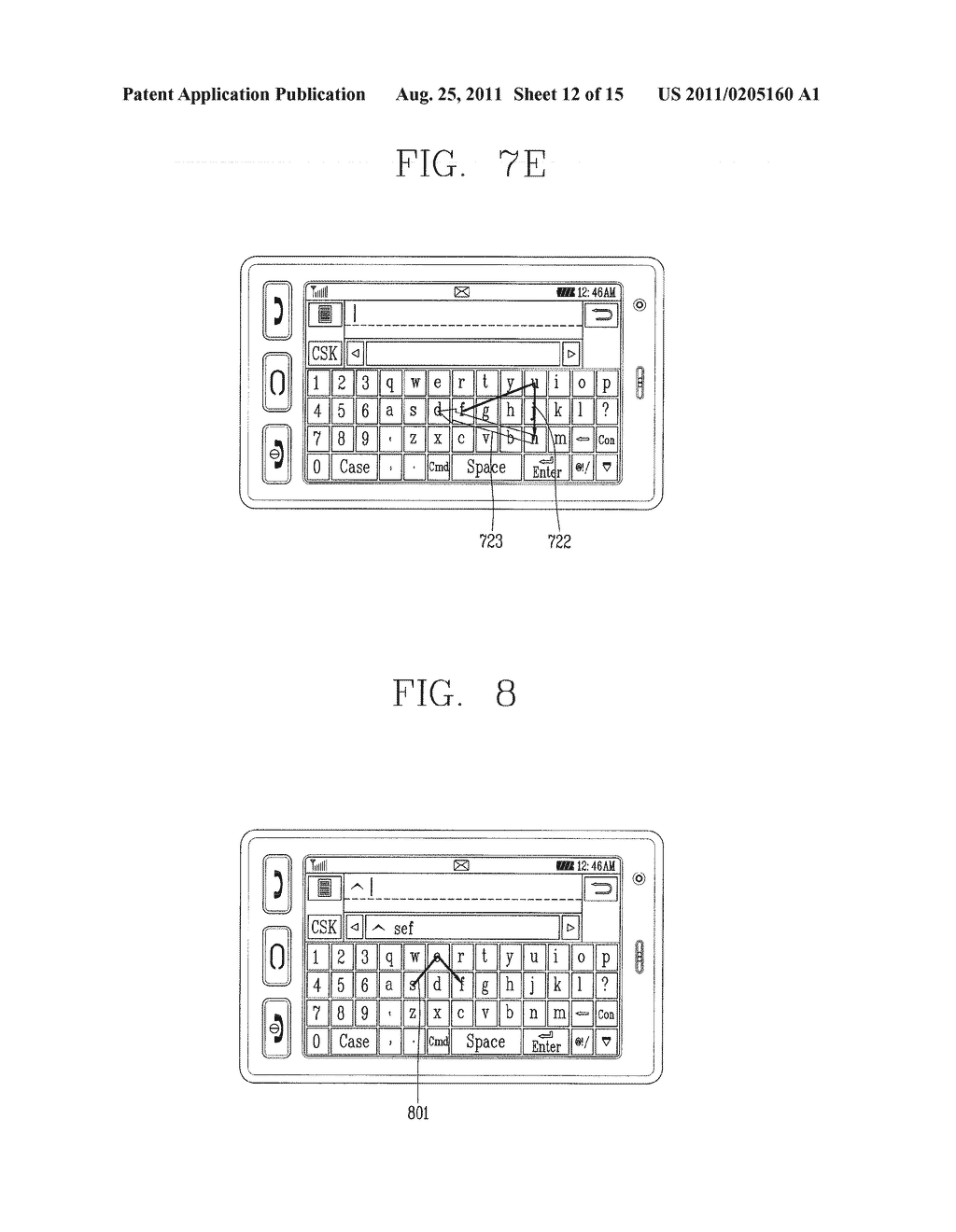 METHOD FOR INPUTTING A STRING OF CHARACTERS AND APPARATUS THEREOF - diagram, schematic, and image 13