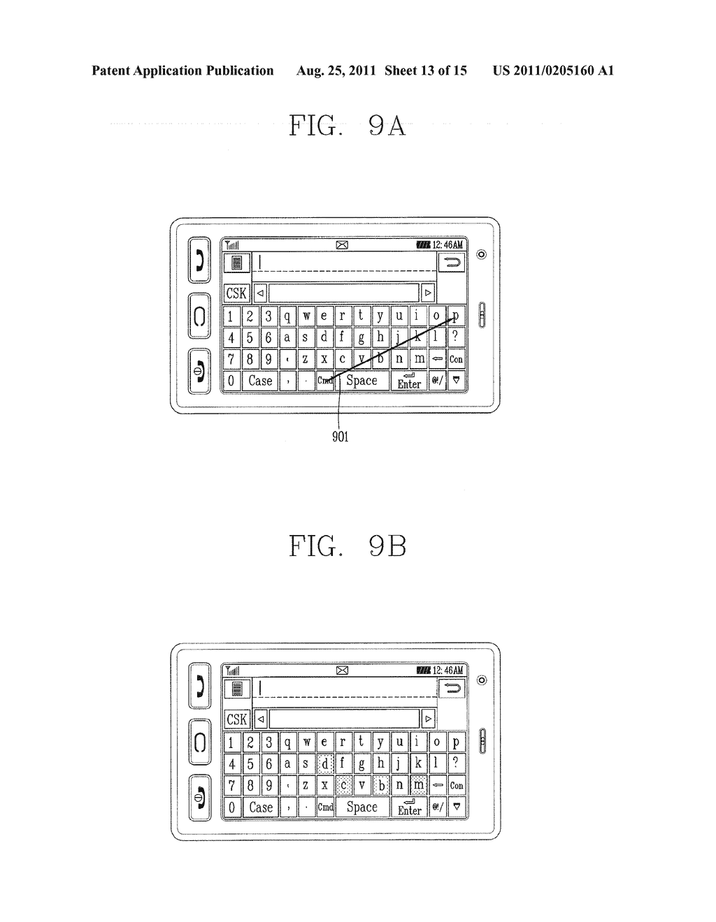 METHOD FOR INPUTTING A STRING OF CHARACTERS AND APPARATUS THEREOF - diagram, schematic, and image 14