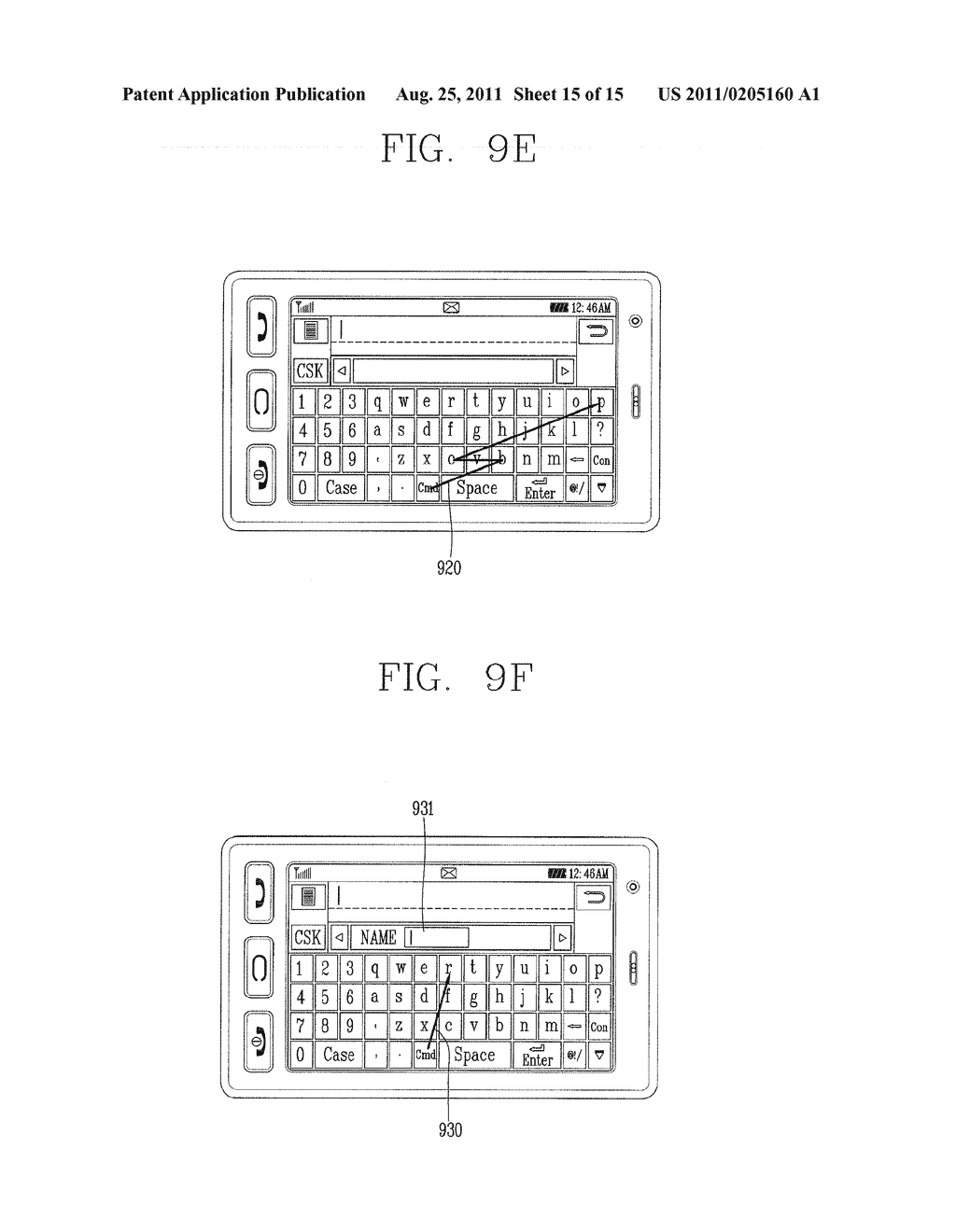 METHOD FOR INPUTTING A STRING OF CHARACTERS AND APPARATUS THEREOF - diagram, schematic, and image 16