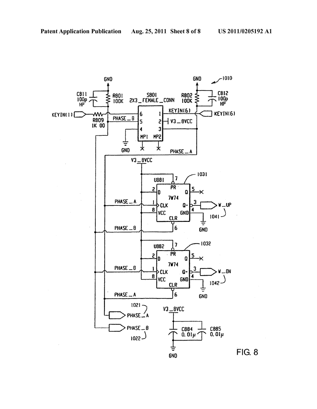 HAND-HELD ELECTRONIC DEVICE WITH MULTIPLE INPUT MODE THUMBWHEEL - diagram, schematic, and image 09