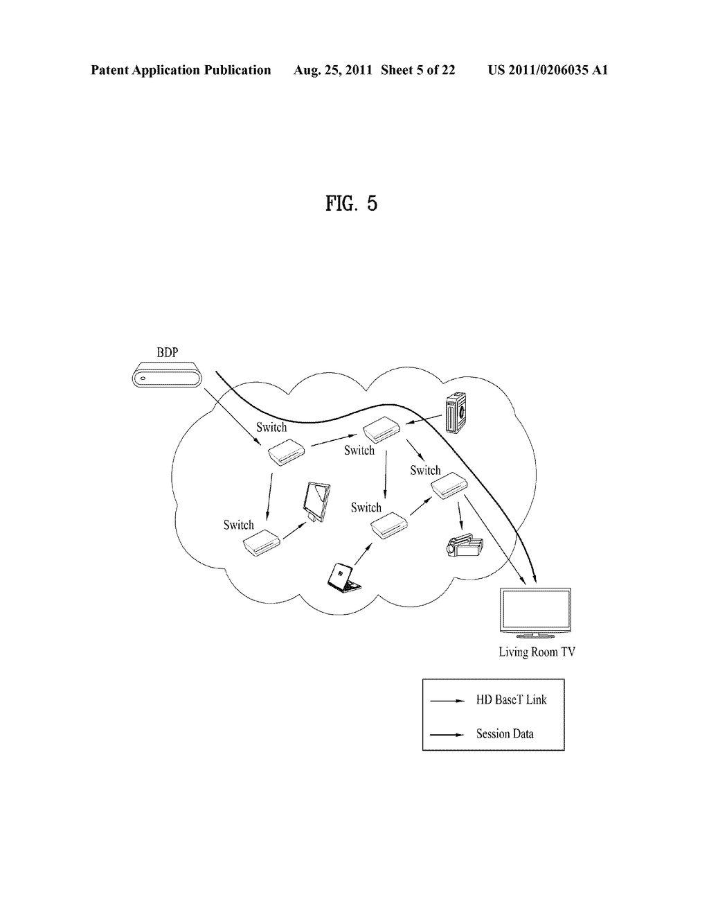 METHOD AND AN APPARATUS FOR SESSION ROUTING IN HOME NETWORK SYSTEM - diagram, schematic, and image 06