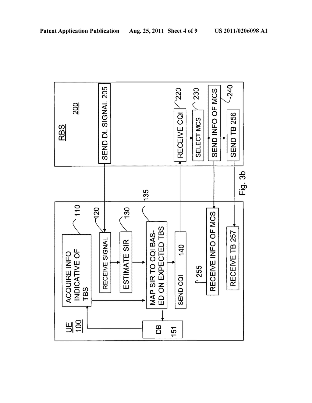 Method and Arrangement of Selecting a CQI Value Based on the Transport     Block Size in a Mobile Telecommunication Network - diagram, schematic, and image 05