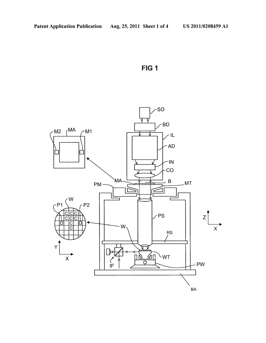 LITHOGRAPHIC APPARATUS AND METHOD FOR CORRECTING A POSITION OF A STAGE OF     A LITHOGRAPHIC APPARATUS - diagram, schematic, and image 02