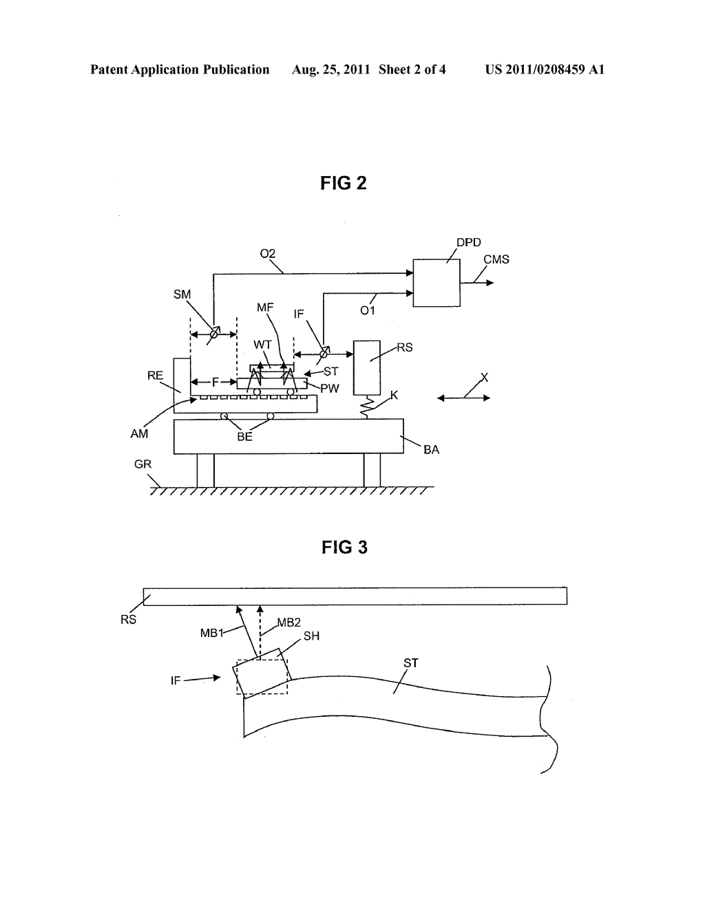LITHOGRAPHIC APPARATUS AND METHOD FOR CORRECTING A POSITION OF A STAGE OF     A LITHOGRAPHIC APPARATUS - diagram, schematic, and image 03