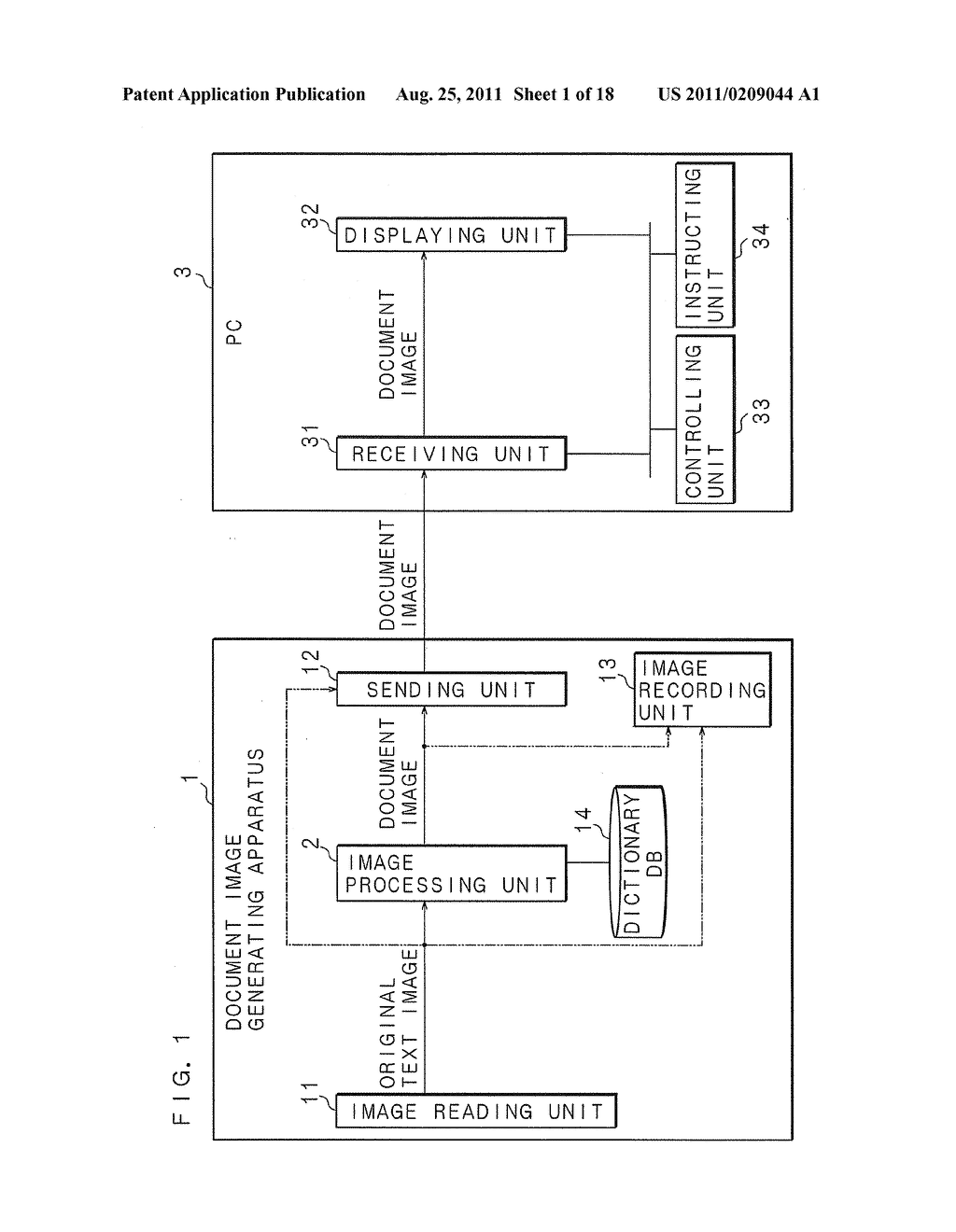 DOCUMENT IMAGE GENERATING APPARATUS, DOCUMENT IMAGE GENERATING METHOD AND     COMPUTER PROGRAM - diagram, schematic, and image 02