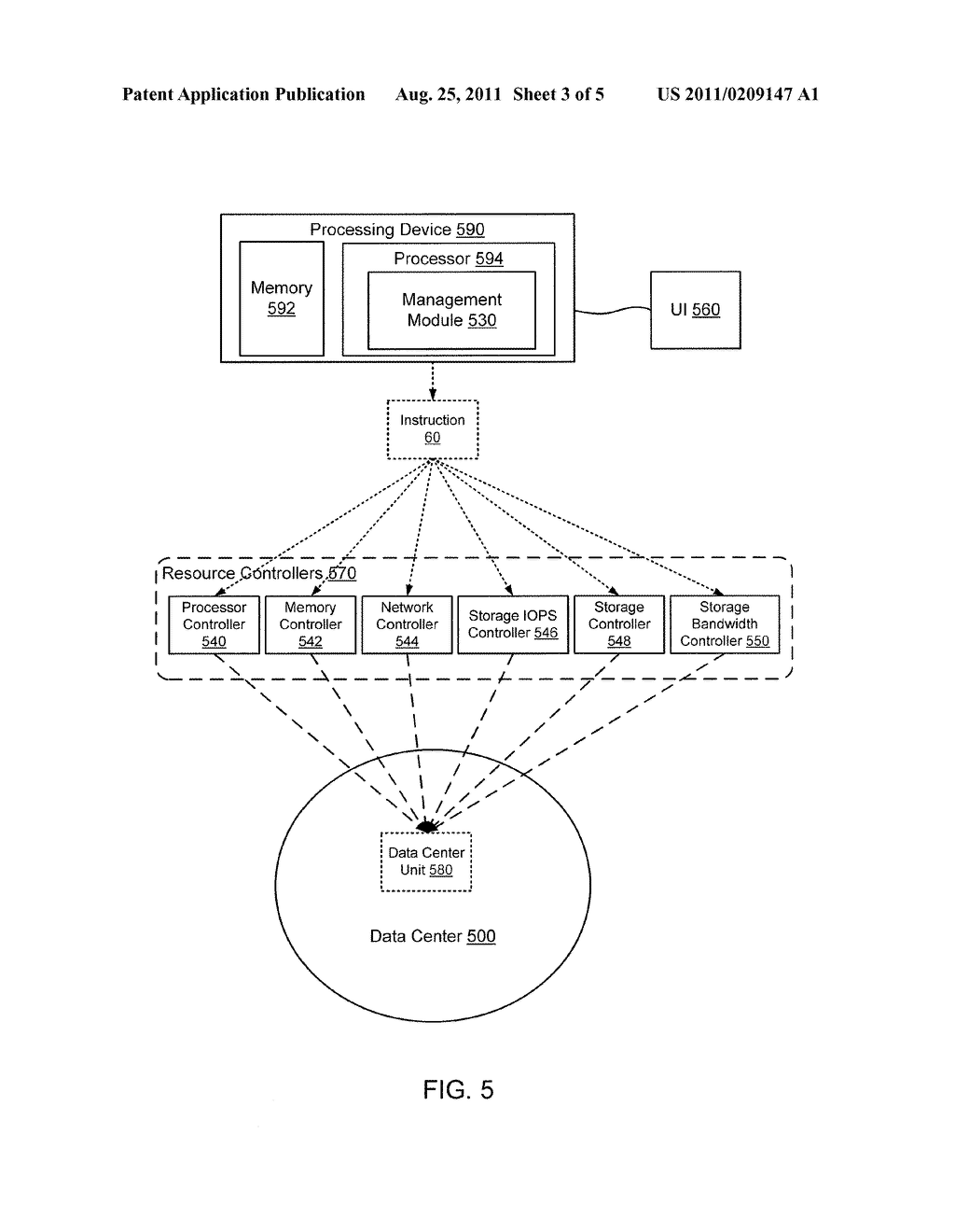 METHODS AND APPARATUS RELATED TO MANAGEMENT OF UNIT-BASED VIRTUAL     RESOURCES WITHIN A DATA CENTER ENVIRONMENT - diagram, schematic, and image 04