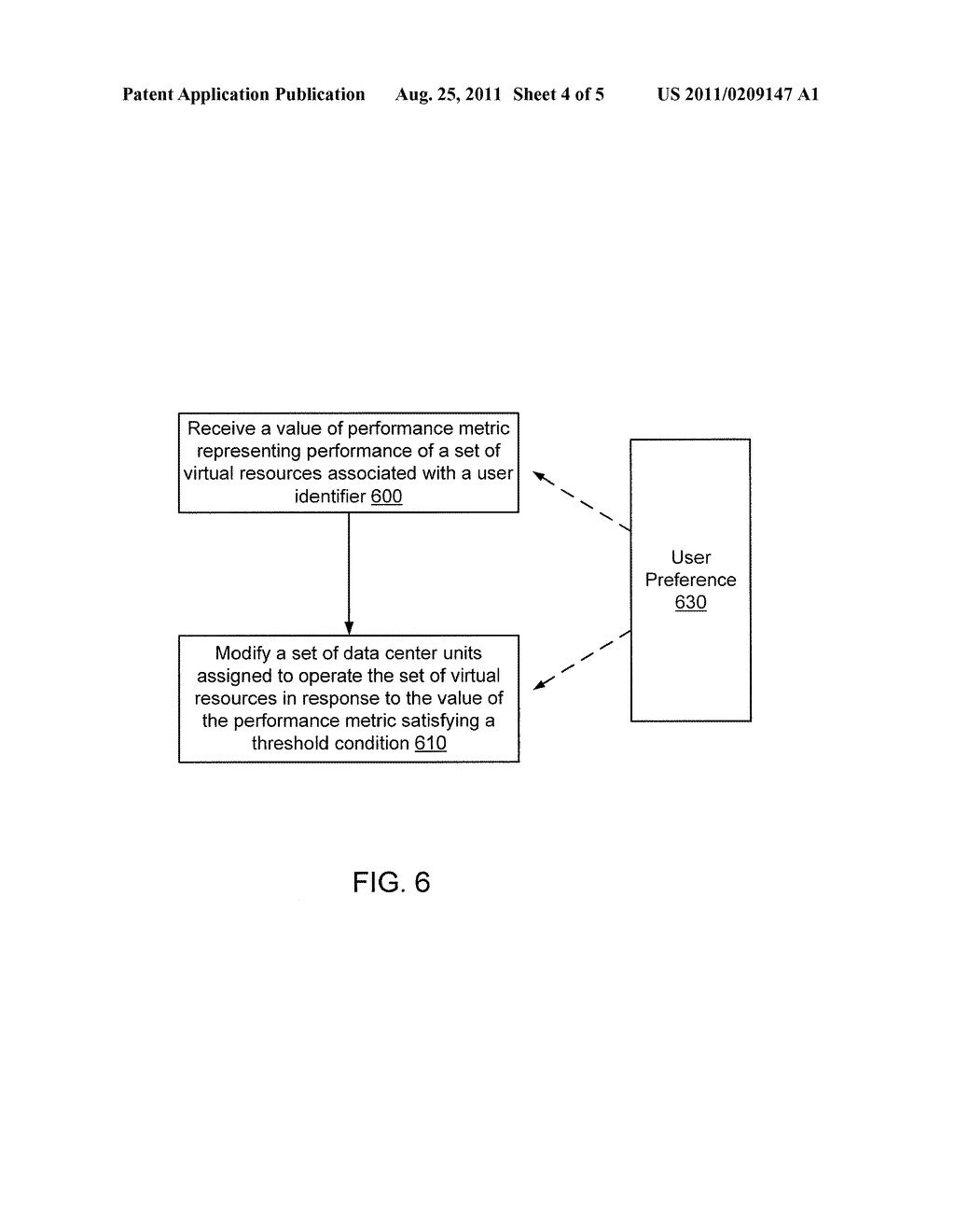 METHODS AND APPARATUS RELATED TO MANAGEMENT OF UNIT-BASED VIRTUAL     RESOURCES WITHIN A DATA CENTER ENVIRONMENT - diagram, schematic, and image 05