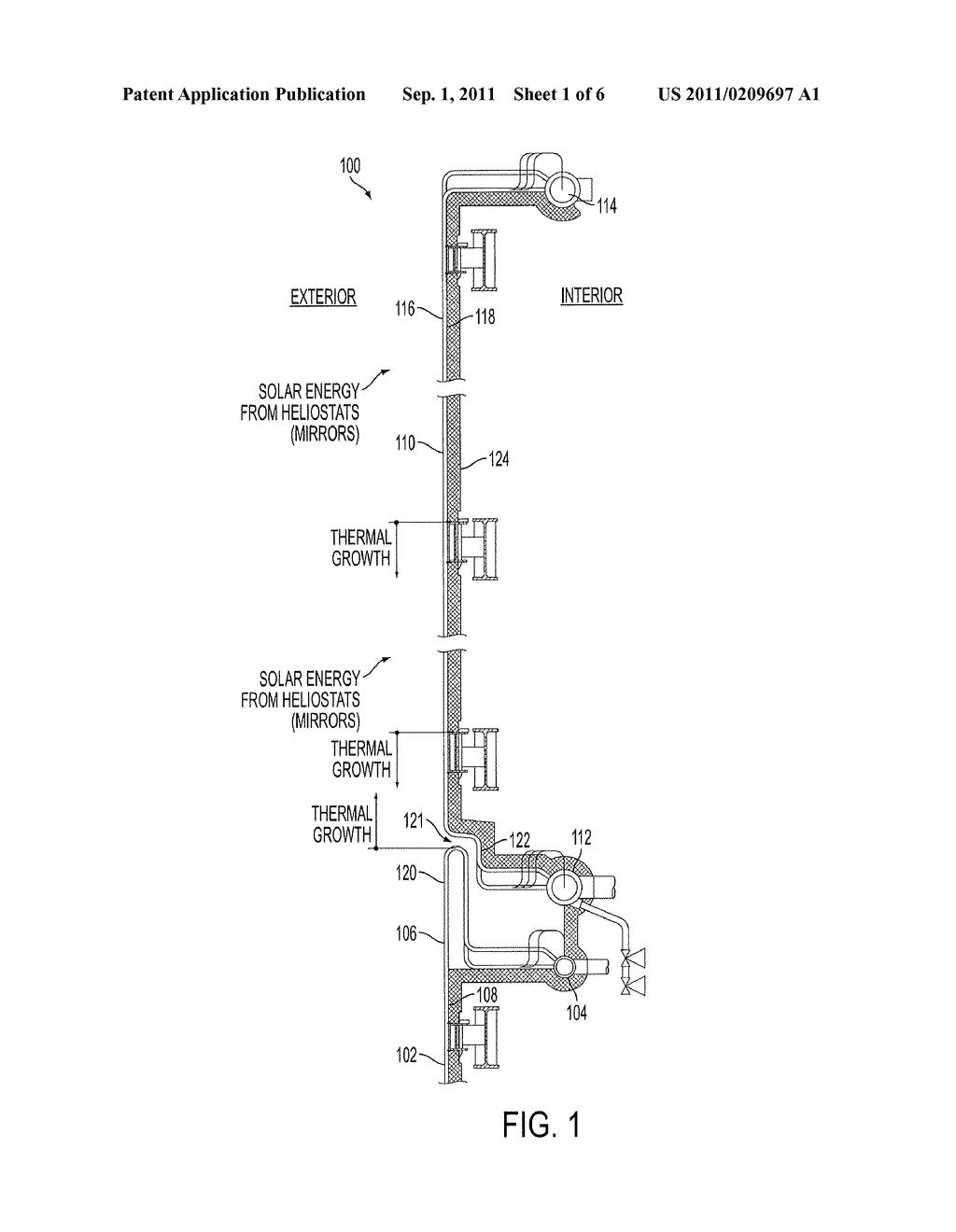 MODULAR SOLAR RECEIVER PANELS AND SOLAR BOILERS WITH MODULAR RECEIVER     PANELS - diagram, schematic, and image 02