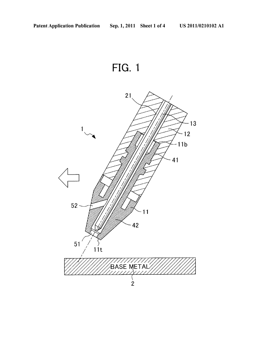 plasma welding torch, and welding method using plasma welding torch -  diagram, schematic, and image 02