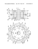 STATOR CORE SUSPENSION SYSTEM USING SPRING BAR IN PLANE EXTENDING     PERPENDICULAR TO STATOR CORE AXIS diagram and image