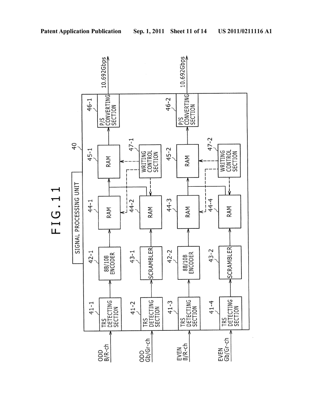 SIGNAL TRANSMITTING DEVICE AND SIGNAL TRANSMITTING METHOD - diagram, schematic, and image 12