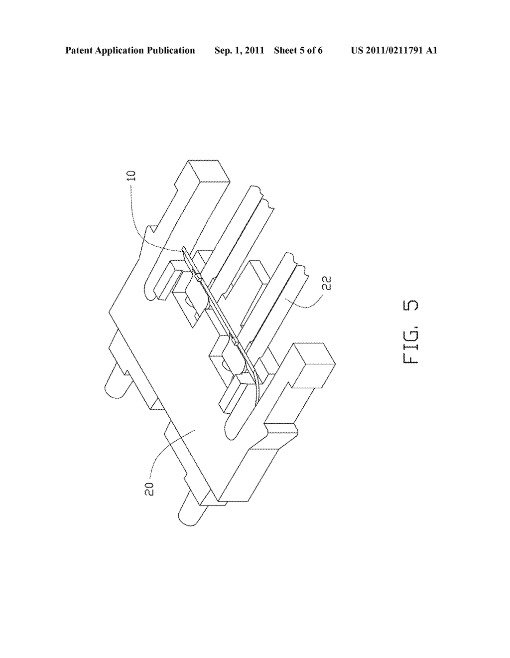OPTICAL FIBER FIXING DEVICE AND METHOD FOR ASSEMBLING OPTICAL FIBER TO     OPTICAL CONNECTOR USING SAME - diagram, schematic, and image 06