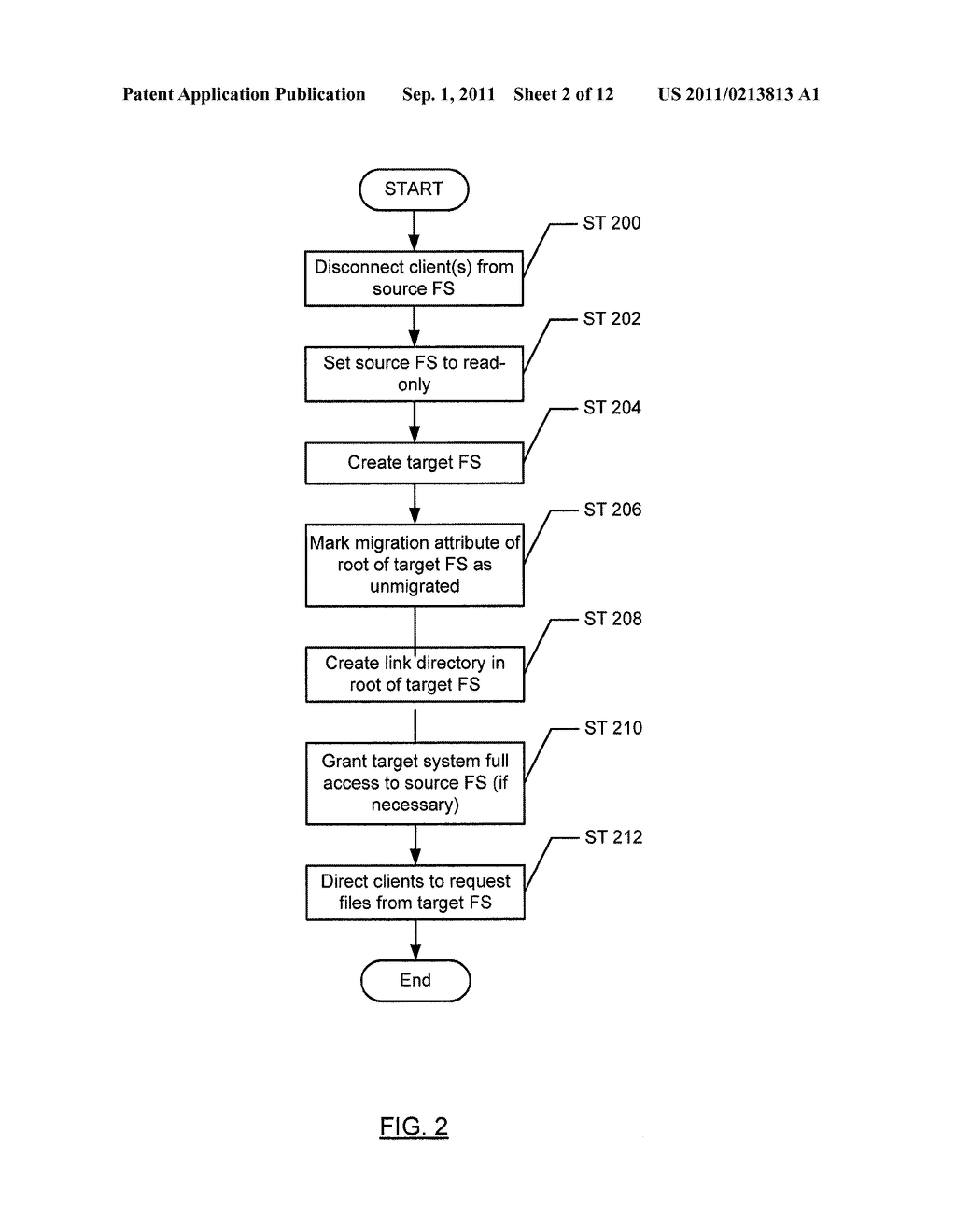 METHOD AND SYSTEM FOR PRESERVING FILES WITH MULTIPLE LINKS DURING SHADOW     MIGRATION - diagram, schematic, and image 03
