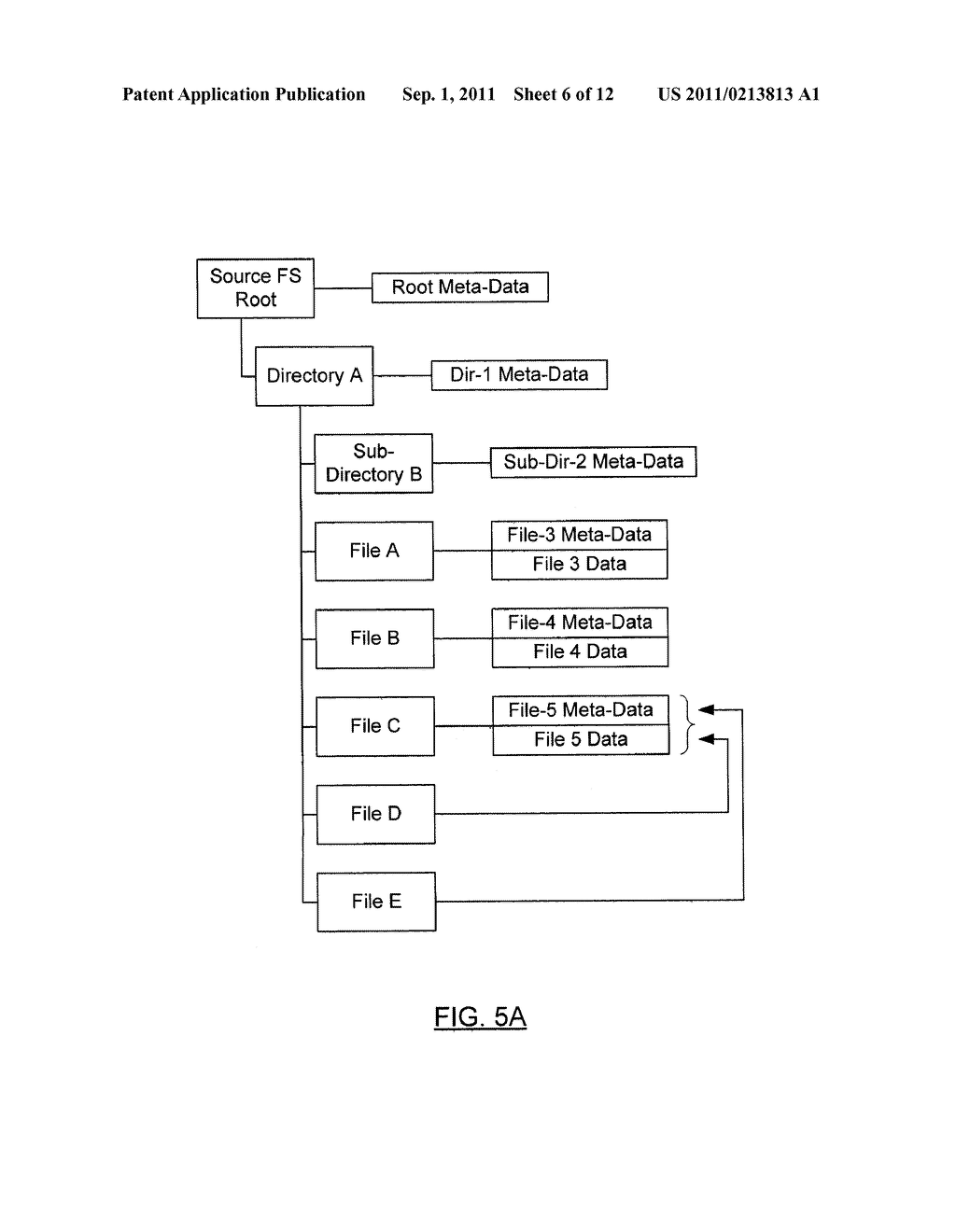 METHOD AND SYSTEM FOR PRESERVING FILES WITH MULTIPLE LINKS DURING SHADOW     MIGRATION - diagram, schematic, and image 07