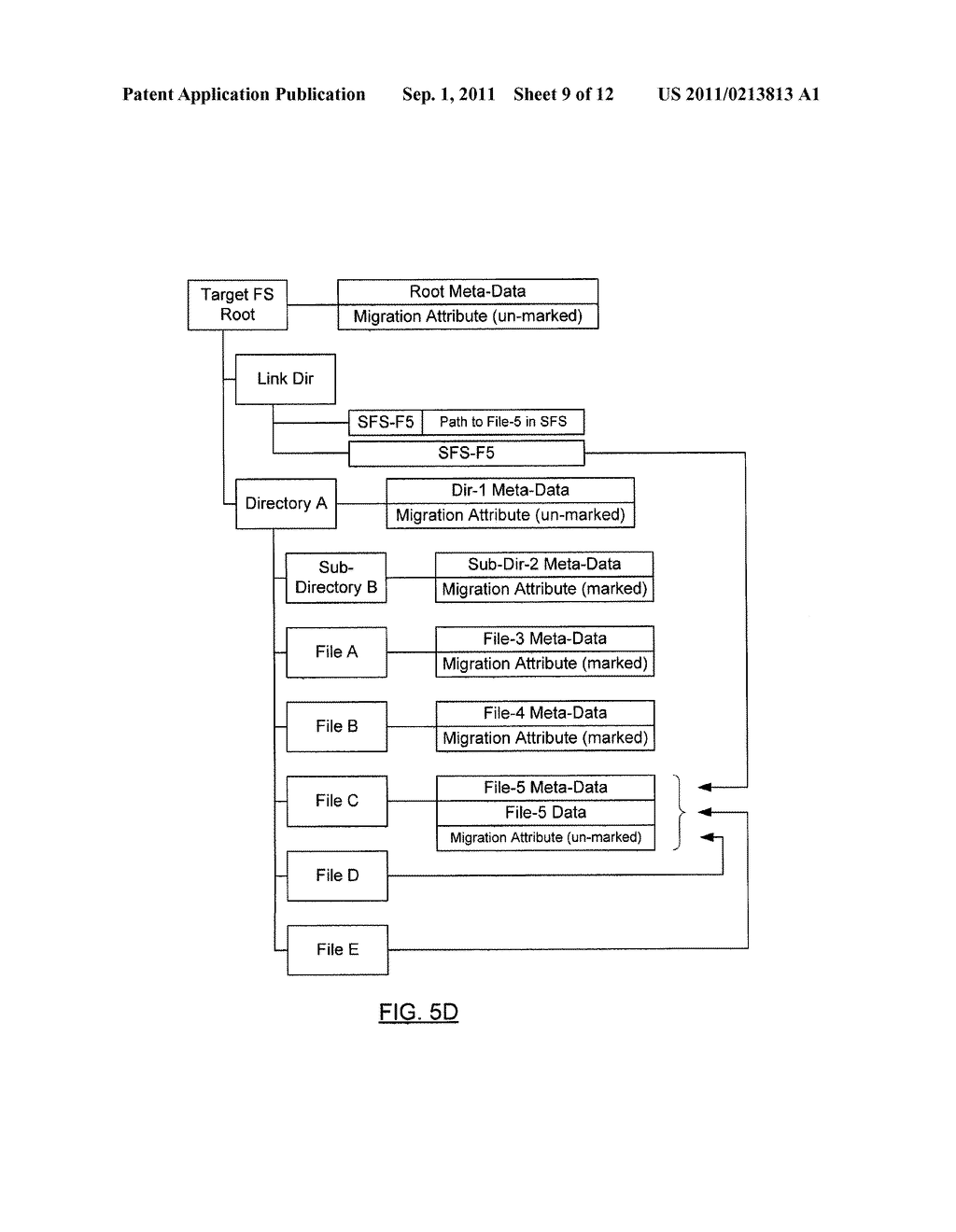 METHOD AND SYSTEM FOR PRESERVING FILES WITH MULTIPLE LINKS DURING SHADOW     MIGRATION - diagram, schematic, and image 10