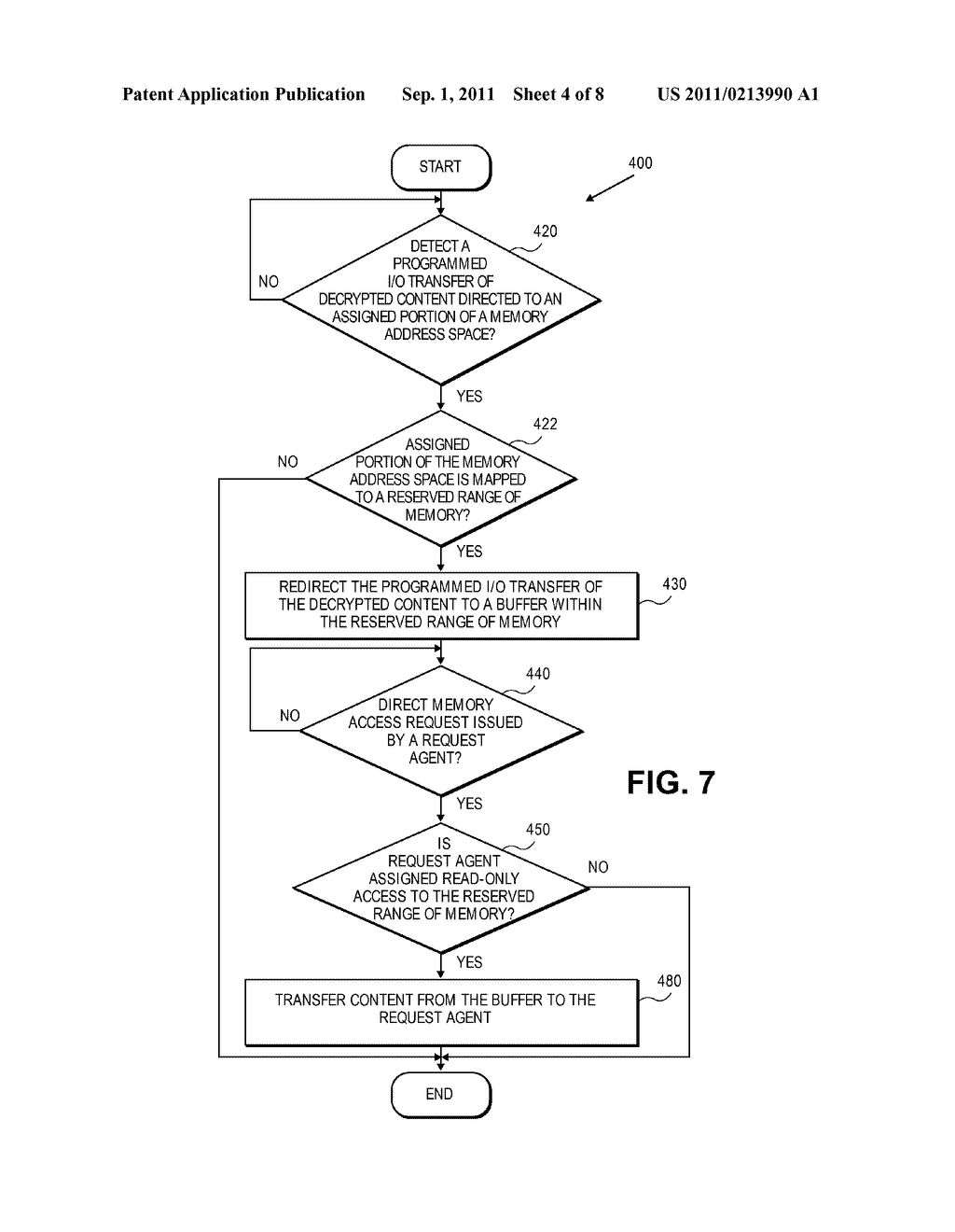APPARATUS AND METHOD FOR CONTENT PROTECTION USING ONE-WAY BUFFERS - diagram, schematic, and image 05