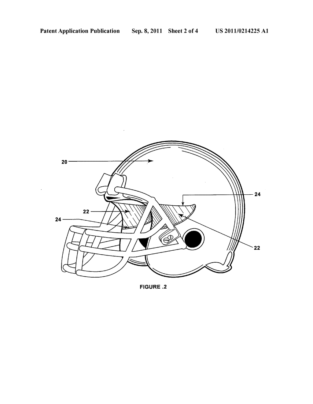 lateral vision football helmet diagram schematic and image 03 rh patentsencyclopedia com