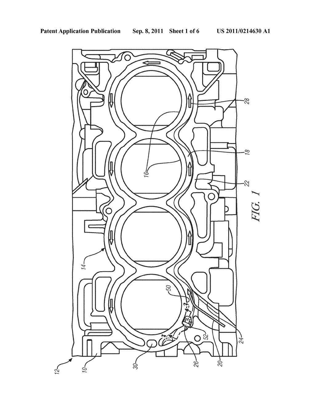 ENGINE BLOCK ASSEMBLY FOR INTERNAL COMBUSTION ENGINE - diagram, schematic,  and image 02