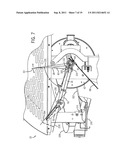 ARM PITCHING MACHINE HAVING IMPROVED BALL DELIVERY ASSEMBLY AND PITCHING     ARM diagram and image