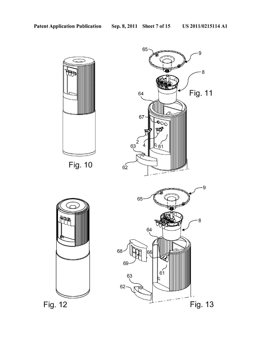 DISPENSING PART FOR A WATER COOLER, AND WATER COOLER COMPRISING SUCH A PART  - diagram, schematic, and image 08
