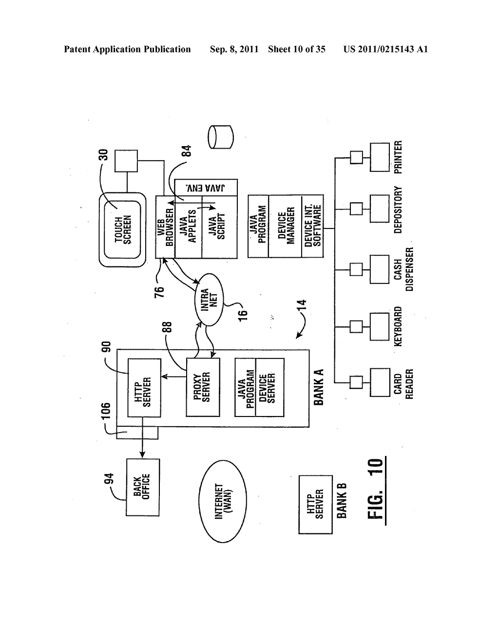 Method of authorizing automated banking machine use responsive to user     data read from data bearing records - diagram, schematic, and image 11