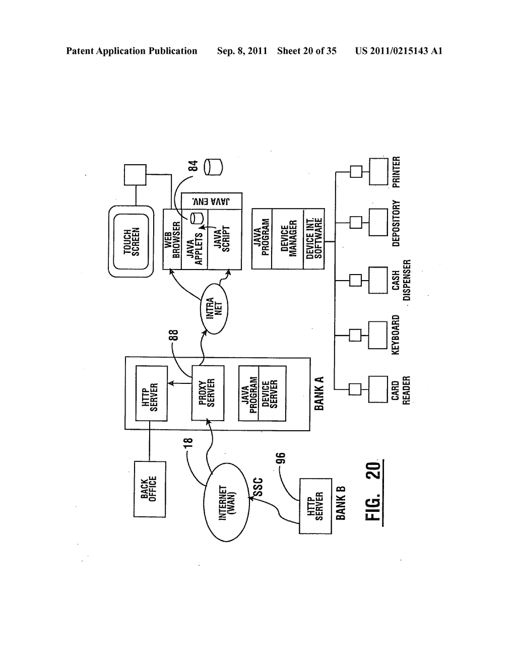 Method of authorizing automated banking machine use responsive to user     data read from data bearing records - diagram, schematic, and image 21