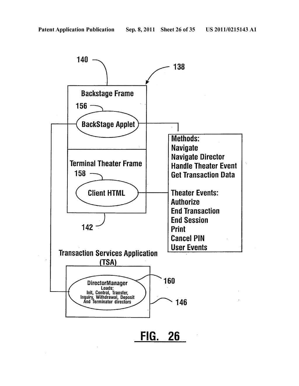 Method of authorizing automated banking machine use responsive to user     data read from data bearing records - diagram, schematic, and image 27