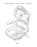 Height-Adjusting Assembly for Office Chair Backrest diagram and image