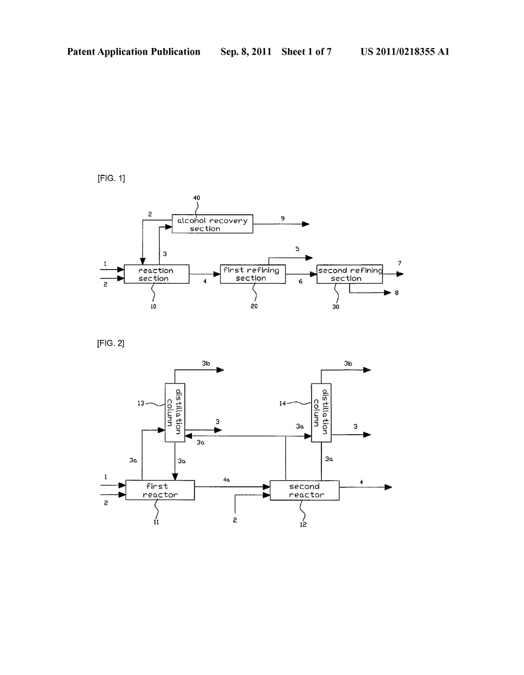 METHOD AND APPARATUS FOR PREPARING ALKYL ESTER FATTY ACID USING FATTY ACID - diagram, schematic, and image 02