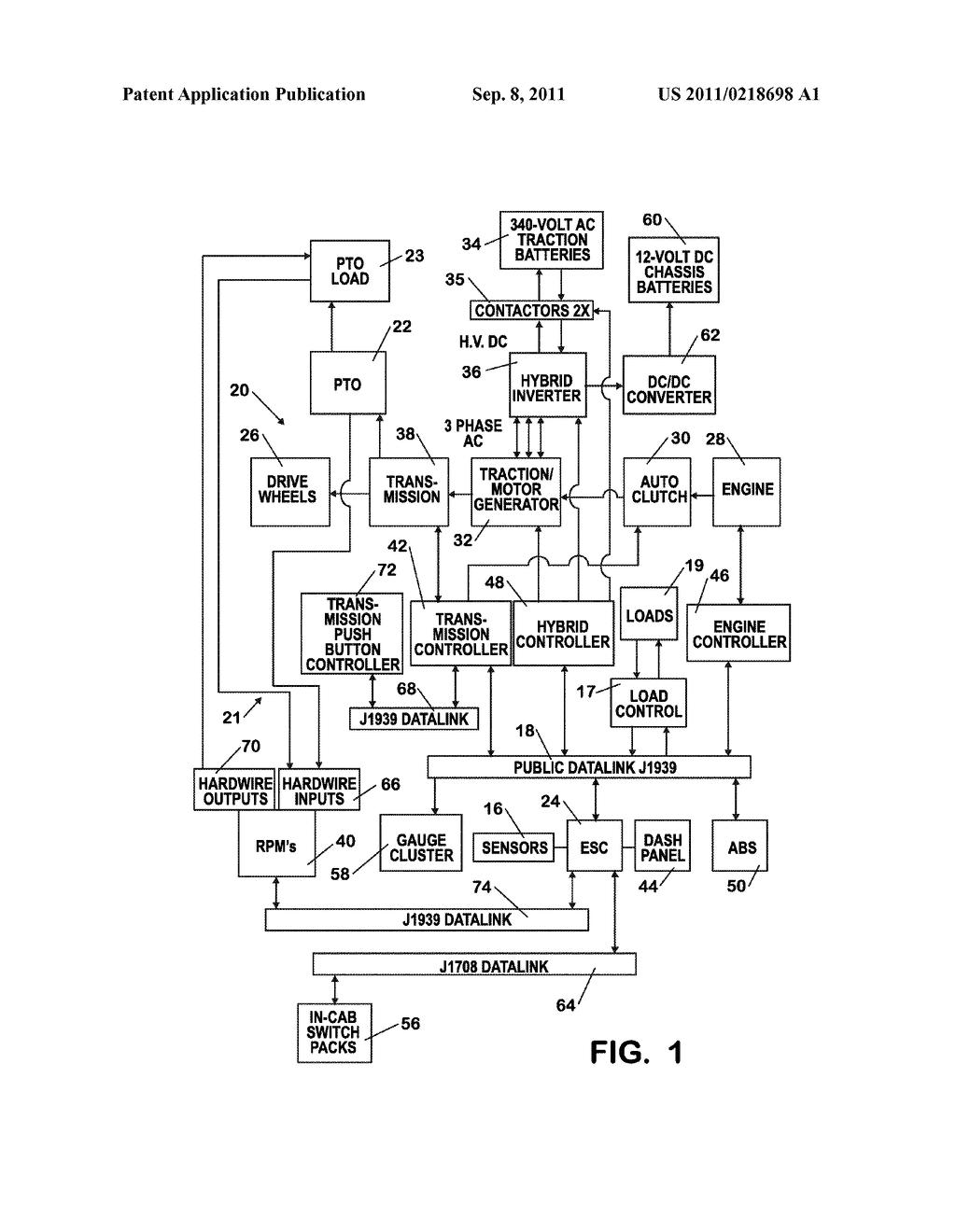 HYBRID HIGH VOLTAGE ISOLATION CONTACTOR CONTROL - diagram