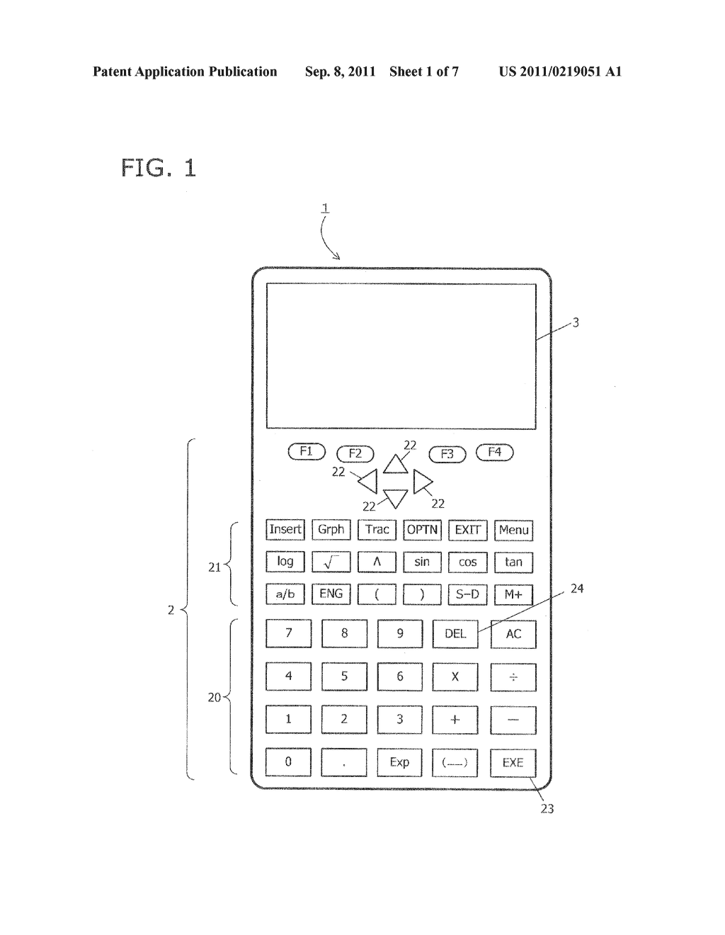ELECTRONIC CALCULATOR, DISPLAY  METHOD, AND RECORDING MEDIUM FOR     DISPLAYING MATHEMATICAL EXPRESSION IN FULL COLOR - diagram, schematic, and image 02