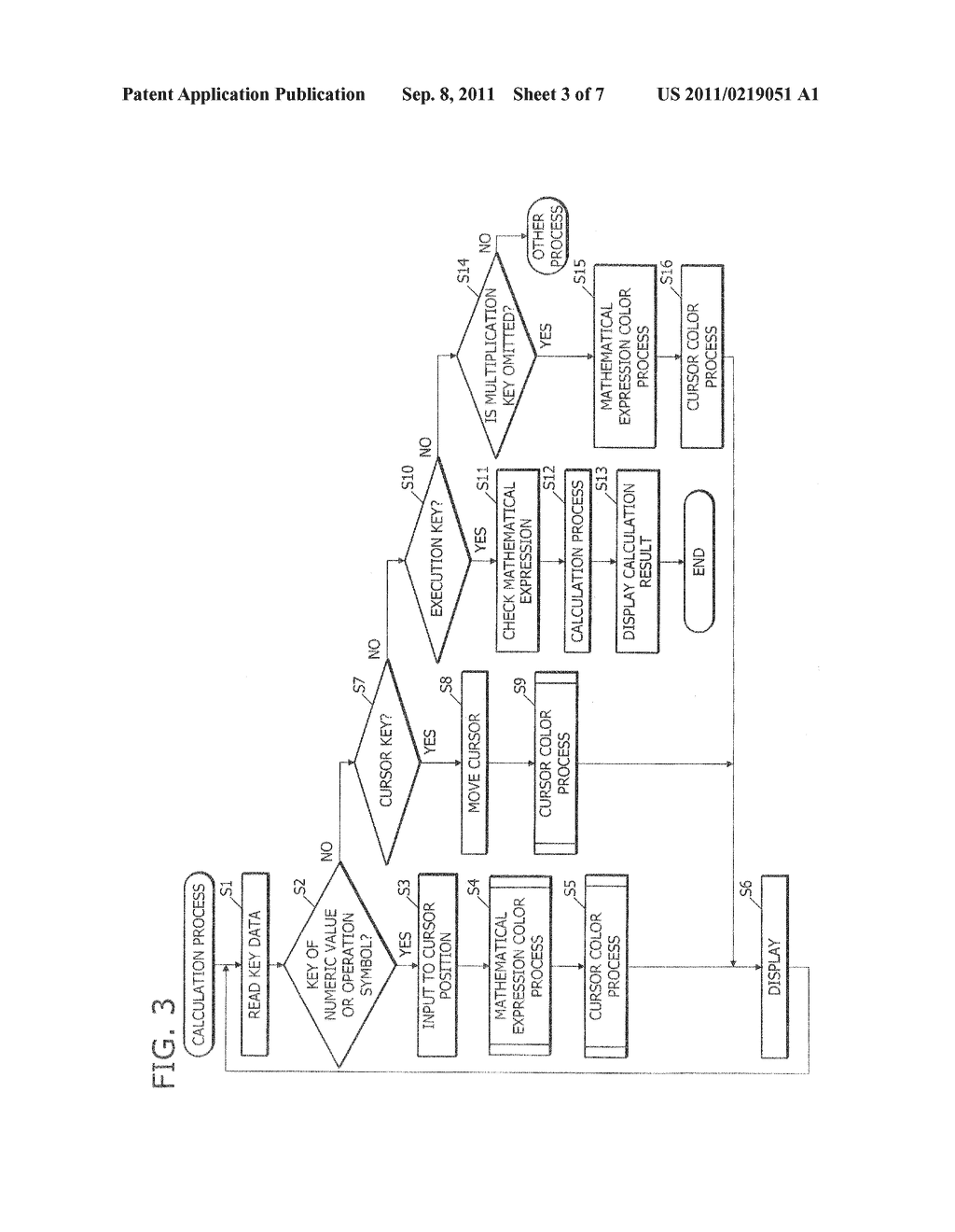 ELECTRONIC CALCULATOR, DISPLAY  METHOD, AND RECORDING MEDIUM FOR     DISPLAYING MATHEMATICAL EXPRESSION IN FULL COLOR - diagram, schematic, and image 04