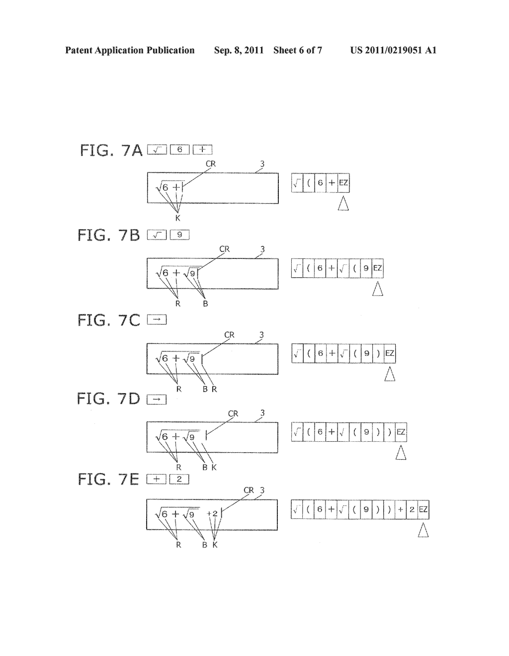 ELECTRONIC CALCULATOR, DISPLAY  METHOD, AND RECORDING MEDIUM FOR     DISPLAYING MATHEMATICAL EXPRESSION IN FULL COLOR - diagram, schematic, and image 07