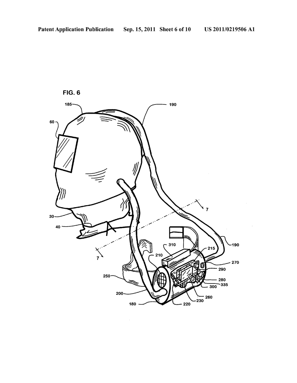Cool, clean air welding helmet - diagram, schematic, and image 07Patents