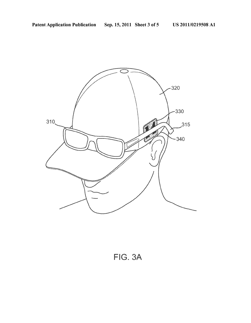 Adhesive Patch for Securing Eyewear to Headwear - diagram, schematic, and image 04