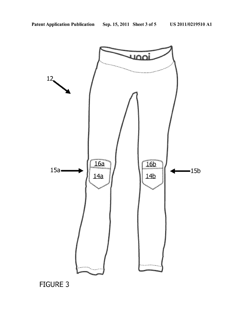 EXERCISE ATTIRE WITH REMOVABLE JOINT PADS - diagram, schematic, and image 04