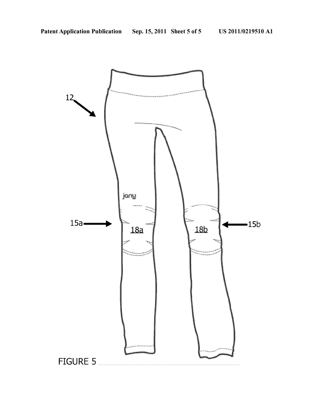EXERCISE ATTIRE WITH REMOVABLE JOINT PADS - diagram, schematic, and image 06