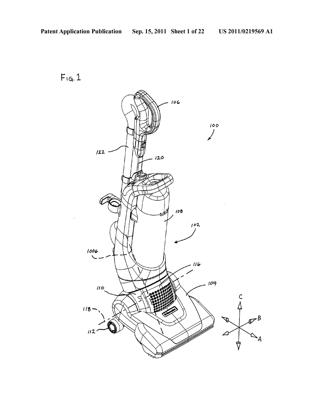 Vacuum Cleaner with Movable Wheel - diagram, schematic, and image 02