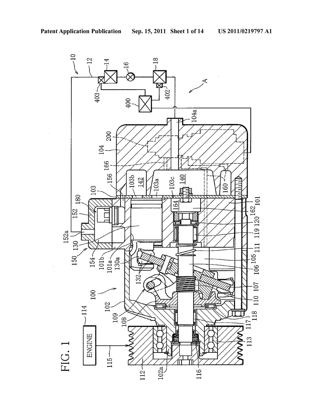 Capacity Control System for Variable Capacity Compressor and Display     Device for the System - diagram, schematic, and image 02